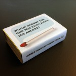 Streichholzschachteln passend zum Motto als Geschenk für jeden Gast